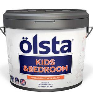 """Фото 1 - Краска """"Кидс Бедроом"""" (Kids & Bedroom) матовая влагостойкая для детских комнат и спален""""Олста/Olsta""""."""