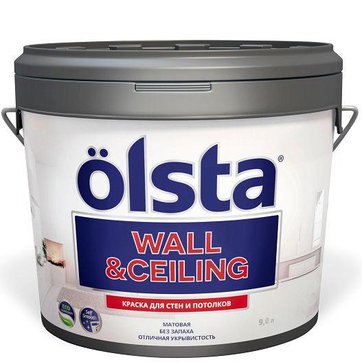 """Фото 1 - Краска """"Вал Целинг"""" (Wall & Ceiling) акриловая матовая для стен и потолков """"Олста/Olsta""""."""