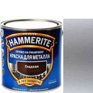 """Фото 14 - Краска """"Hammerite"""" Серебристая, гладкая глянцевая для металла 3 в 1 """"Хаммерайт""""."""