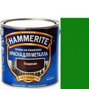 """Фото 8 - Краска """"Hammerite"""" Зеленая, гладкая глянцевая для металла 3 в 1 """"Хаммерайт""""."""