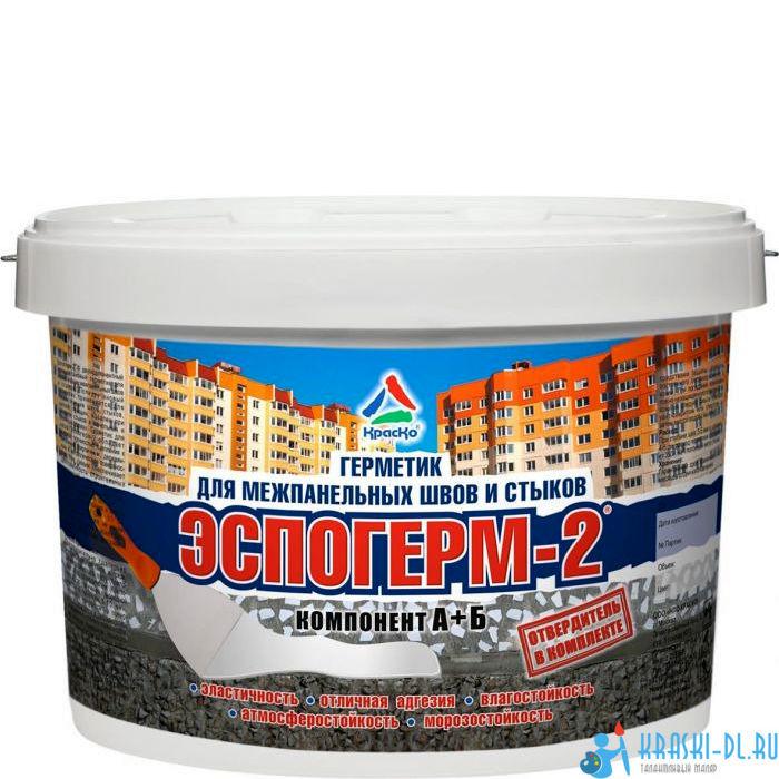 """Фото 5 - Герметик Эспогерм-2 фасадный полиуретановый для межпанельных швов и стыков 2К """"Цвет Белый"""" """"Вес - 20 кг"""" КрасКо."""