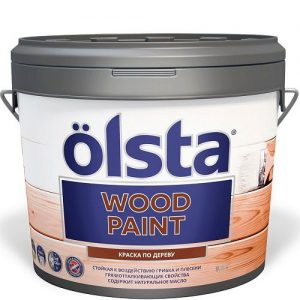 """Фото 10 - Краска """"Вуд"""" (Wood Paint) полуматовая для деревянных поверхностей """"Олста/Olsta""""."""