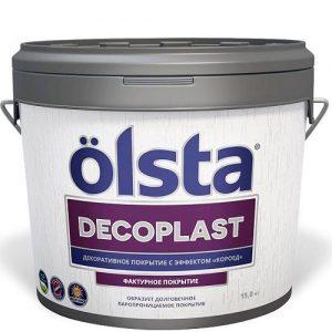 """Фото 1 - Покрытие """"Декопласт"""" (Decoplast) фасадное шелковисто-матовое с эффектом """"короед"""" """"Олста/Olsta""""."""