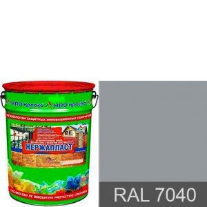 Фото 1 - Нержапласт - антикоррозионная алкидно-уретановая краска «жидкий пластик» для чистых и ржавых металлических поверхностей,  формула 3 в 1 (RAL 7040).