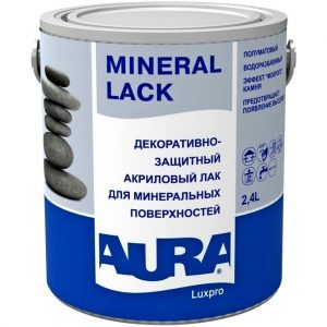 """Фото 5 - Лак """"Аура Минерал лак"""" (Mineral Lack) акриловый полуматовый для минеральных поверхностей """"Aura""""."""