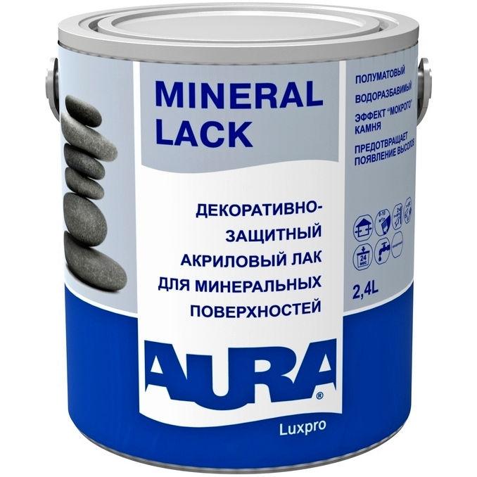 Фото 5 - Лак Aura Mineral Lack, акриловый, полуматовый, для минеральных поверхностей 1л, Аура.