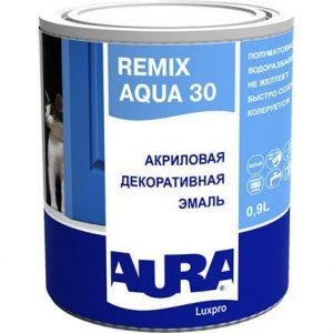 """Фото 2 - Эмаль """"Ремикс Аква 30""""(Remix Aqua 30) акриловая полуматовая универсальная """"Аура ЛюксПро/Aura LuxPRO""""."""