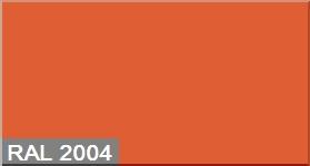 """Фото 6 - Колеровка  1 доза по цвету RAL/РАЛ 2004 Оранжевый (база """"С"""", на 0,9л краски)."""