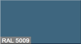 """Фото 17 - Колеровка  1 доза по цвету RAL/РАЛ 5009 Лазурно-синий (база """"С"""", на 0,9л краски)."""