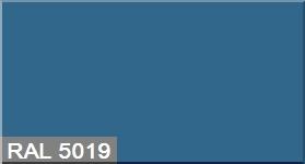 """Фото 35 - Колеровка  1 доза по цвету RAL/РАЛ 5019 Синий (база """"С"""", на 0,9л краски)."""
