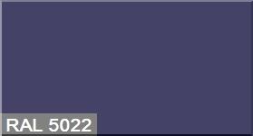"""Фото 41 - Колеровка  1 доза по цвету RAL/РАЛ 5022 Ночной синий (база """"С"""", на 0,9л краски)."""