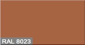 """Фото 30 - Колеровка  1 доза по цвету RAL/РАЛ 8023 Оранжево-коричневый (база """"С"""", на 0,9л краски)."""