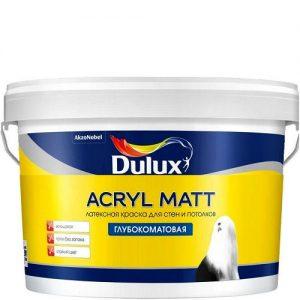 """Фото 6 - Краска """"Dulux"""" Акрил Мат (Acryl Matt), акриловая моющаяся глубокоматовая интерьерная """"AkzoNobel""""."""
