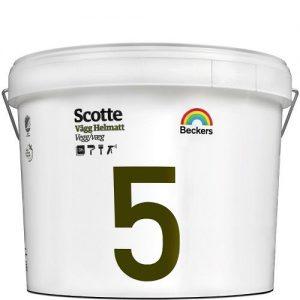 """Фото 10 - Краска """"Скотти 5"""" (Scotte 5) латексная матовая для стен и потолков """"Беккерс/Beckers""""."""
