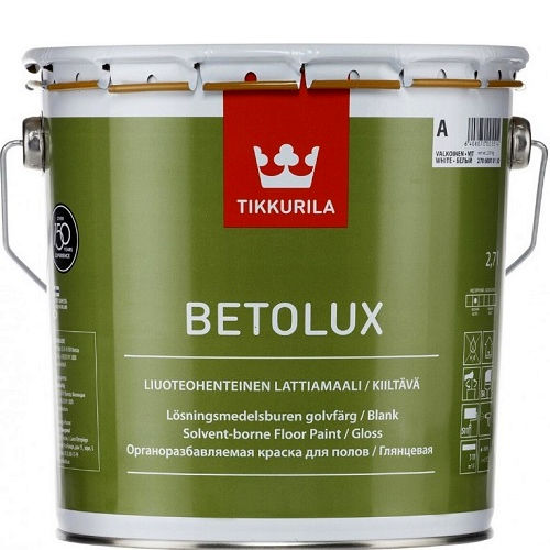 """Фото 1 - Краска """"Бетолюкс"""" (Betolux) уретано-алкидная полуглянцевая для пола """"Тиккурила/Tikkurila""""."""