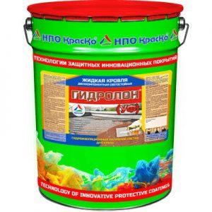 """Фото 2 - Мастика """"Гидролон УФ"""" гидроизоляционный наливной состав для кровли 2К """"КрасКо"""" (Серый)(Красной-коричневый) 10кг-20кг."""