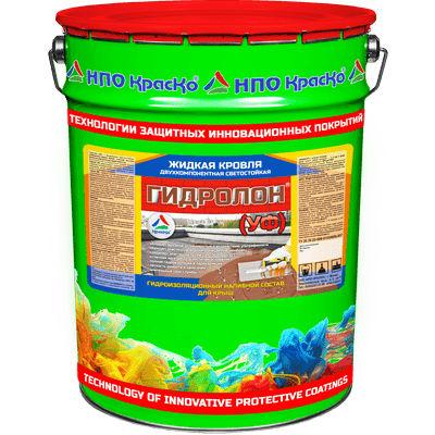 """Фото 1 - Мастика """"Гидролон УФ"""" гидроизоляционный наливной состав для кровли 2К """"КрасКо"""" (Серый)(Красной-коричневый) 10кг-20кг."""
