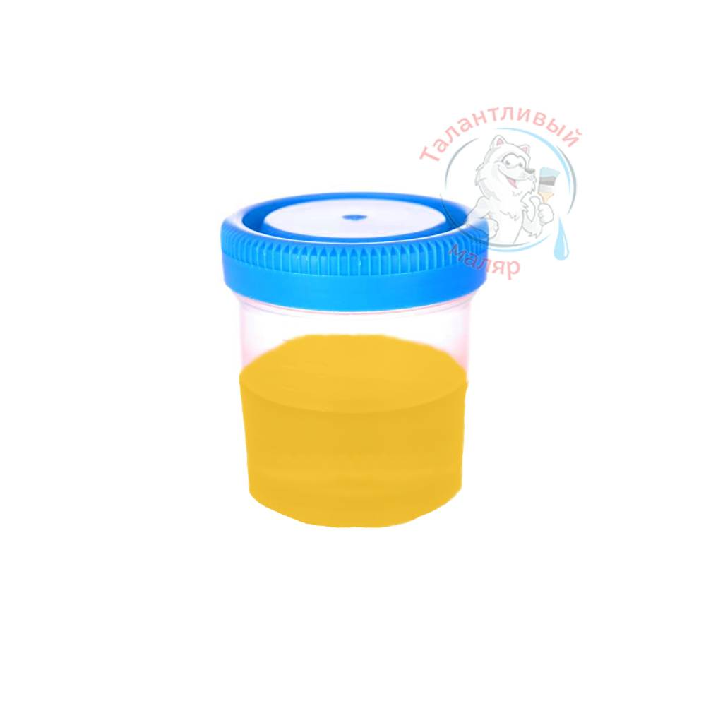"Фото 4 - Колеровка  1 доза по цвету RAL/РАЛ 1003 Сигнально-жёлтый (база ""С"", на 0,9л краски)."