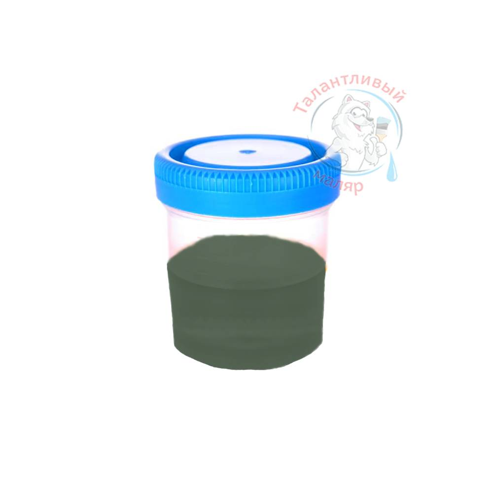 """Фото 42 - Колеровка  1 доза по цвету RAL/РАЛ 6020 Зеленый хром (база """"С"""", на 0,9л краски)."""
