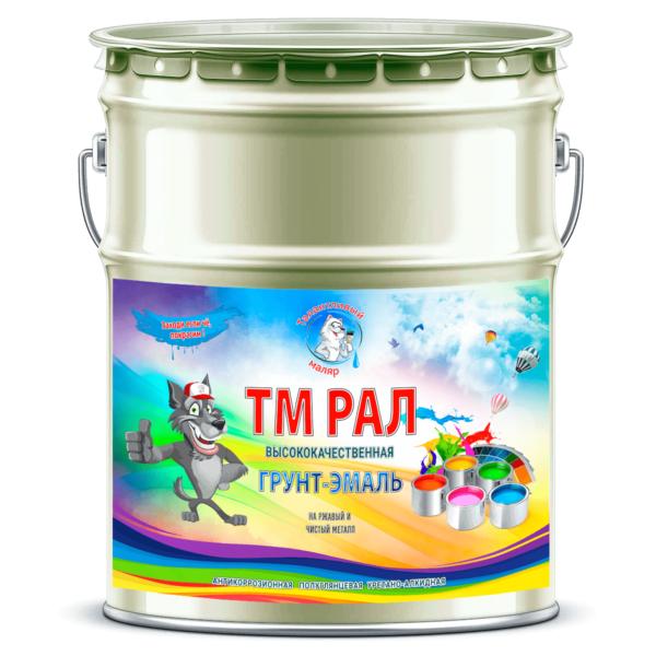 """Фото 1 - TM6021 Грунт-Эмаль """"ТМ РАЛ"""" уретано-алкидная 3 в 1 цвет RAL 6021 Бледно-зеленый, антикоррозионная,  полуглянцевая для черных металлов, 20 кг """"Талантливый маляр""""."""