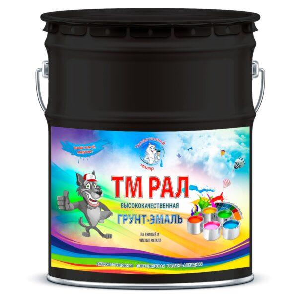 """Фото 1 - TM9005 Грунт-Эмаль """"ТМ РАЛ"""" уретано-алкидная 3 в 1 цвет RAL 9005 Черный янтарь, антикоррозионная,  полуглянцевая для черных металлов, 20 кг """"Талантливый маляр""""."""