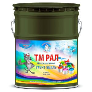 """Фото 13 - TM6012 Грунт-Эмаль """"ТМ РАЛ"""" уретано-алкидная 3 в 1 цвет RAL 6012 Чёрно-зелёный, антикоррозионная,  полуглянцевая для черных металлов, 20 кг """"Талантливый маляр""""."""