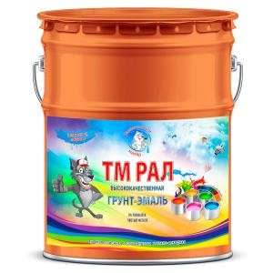 """Фото 5 - TM2004 Грунт-Эмаль """"ТМ РАЛ"""" уретано-алкидная 3 в 1 цвет RAL 2004 Оранжевый, антикоррозионная,  полуглянцевая для черных металлов, 20 кг """"Талантливый маляр""""."""