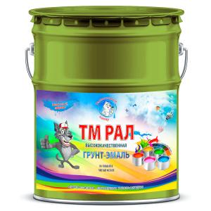 """Фото 12 - TM6011 Грунт-Эмаль """"ТМ РАЛ"""" уретано-алкидная 3 в 1 цвет RAL 6011 Зеленая резеда, антикоррозионная,  полуглянцевая для черных металлов, 20 кг """"Талантливый маляр""""."""