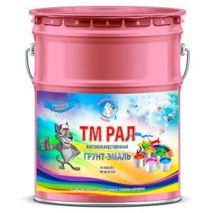"""Фото 15 - TM3017 Грунт-Эмаль """"ТМ РАЛ"""" уретано-алкидная 3 в 1 цвет RAL 3017 Розовый, антикоррозионная,  полуглянцевая для черных металлов, 20 кг """"Талантливый маляр""""."""