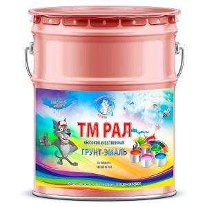 """Фото 13 - TM3015 Грунт-Эмаль """"ТМ РАЛ"""" уретано-алкидная 3 в 1 цвет RAL 3015 Светло-розовый, антикоррозионная,  полуглянцевая для черных металлов, 20 кг """"Талантливый маляр""""."""