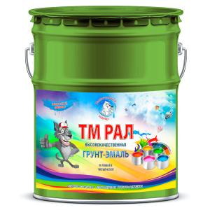 """Фото 11 - TM6010 Грунт-Эмаль """"ТМ РАЛ"""" уретано-алкидная 3 в 1 цвет RAL 6010 Зеленая трава, антикоррозионная,  полуглянцевая для черных металлов, 20 кг """"Талантливый маляр""""."""