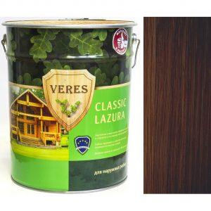 """Фото 9 - Пропитка """"Верес Классик Лазура"""" №9 Палисандр, полуматовая для древесины """"Veres Classic lazura""""."""