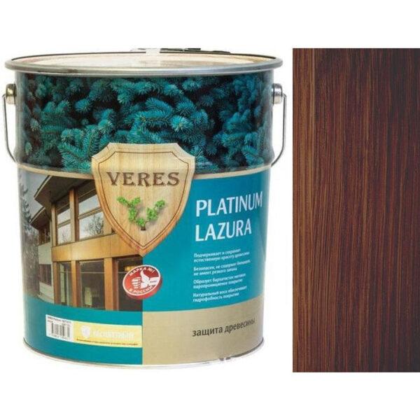 """Фото 1 - Пропитка """"Верес Платинум Лазура"""" №3 Тик, матовая для древесины """"Veres Platinum Lazura""""."""