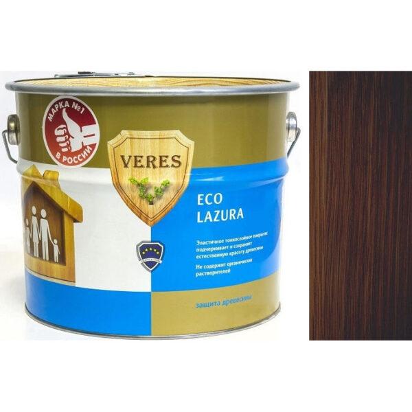 """Фото 1 - Пропитка """"Верес Эко Лазура"""" №9 Палисандр, шелковисто-матовая для древесины """"Veres Еco lazura""""."""