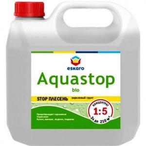 """Фото 4 - Грунт-Концентрат """"Аквастоп Био"""" (Aquastop Bio) 1:5 акриловый влагоизолятор с биоцидами  [10 л] Эскаро/ Eskaro."""