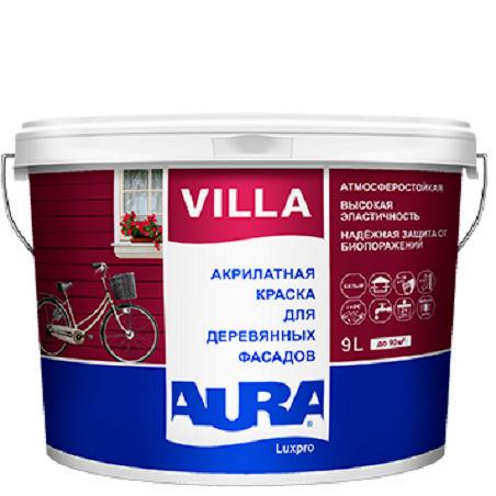 Фото 3 - Краска Aura Villa LuxPRO, фасадная, полуматовая, для дерева, 9л, База TR, Аура.