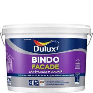 Фото 2 - Краска Дулюкс Биндо Фасад (Bindo Facade) глубокоматовая для фасадов и цоколей база BW [2.5л] Dulux.