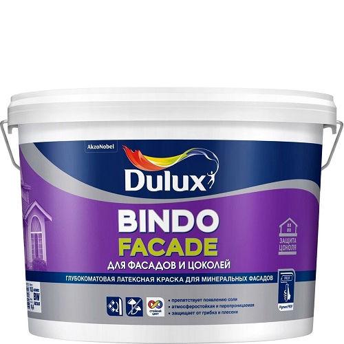 Фото 18 - Краска Дулюкс Биндо Фасад (Bindo Facade) глубокоматовая для фасадов и цоколей база BW [2.5л] Dulux.