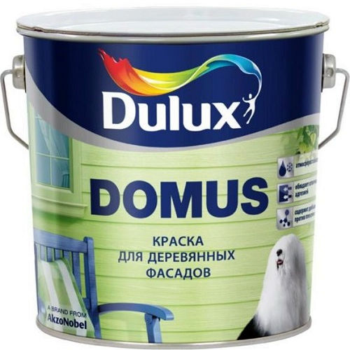Фото 2 - Краска Дулюкс Домус (Domus) масляно-алкидная полуглянцевая для деревянных фасадов база BW [10л] Dulux.