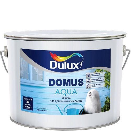 Фото 18 - Краска Дулюкс Домус Аква (Domus Aqua) полуматовая для деревянных фасадов база BW [10л] Dulux.