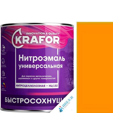 """Фото 7 - НитроЭмаль Крафор """"НЦ-132 Желтая"""" универсальная быстросохнущая гладкая  [17кг] Krafor."""