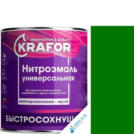 """Фото 10 - НитроЭмаль Крафор """"НЦ-132 Зеленая"""" универсальная быстросохнущая гладкая  [17кг] Krafor."""