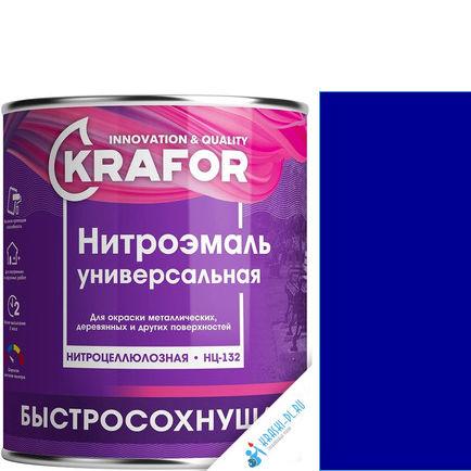 """Фото 21 - НитроЭмаль Крафор """"НЦ-132 Синяя"""" универсальная быстросохнущая гладкая  [17кг] Krafor."""