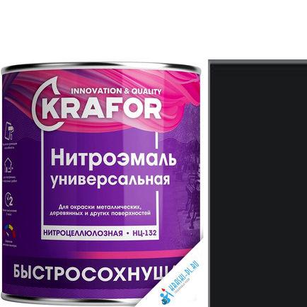 """Фото 24 - НитроЭмаль Крафор """"НЦ-132 Черная"""" универсальная быстросохнущая гладкая  [17кг] Krafor."""