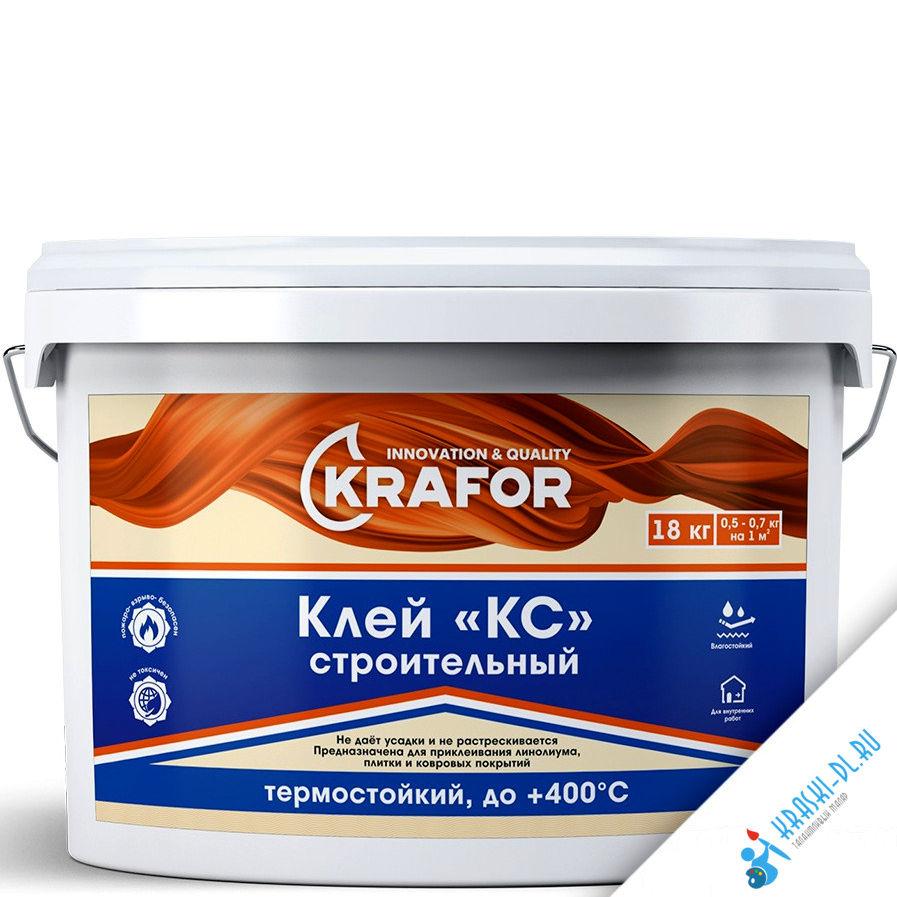 """Фото 1 - Клей Крафор """"КС"""" Строительный влаго-термостойкий для внутренних работ  [18кг] Krafor."""
