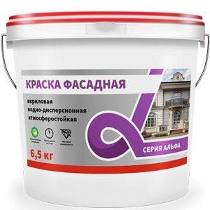 """Фото 1 - Краска Альфа Крафор """"Фасадная"""" матовая для фасада и цоколей  [14кг] Krafor."""