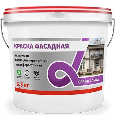 """Фото 7 - Краска Альфа Крафор """"Фасадная"""" матовая для фасада и цоколей  [14кг] Krafor."""