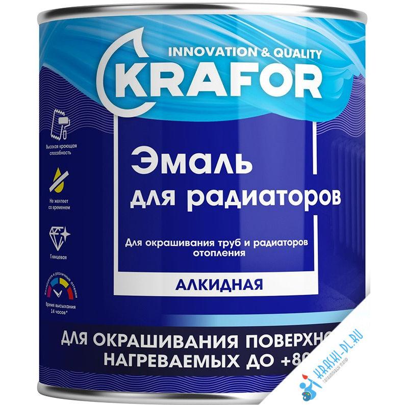 """Фото 1 - Эмаль Крафор """"для Радиаторов и Труб Отопления"""" алкидная белая глянцевая  уп - 14 шт, по [0.9кг] Krafor."""