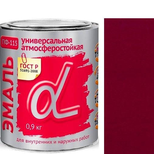 """Фото 13 - Эмаль Альфа Крафор """"ПФ-115 Вишневая"""" универсальная глянцевая алкидная  уп - 14 шт, по [0.9кг] Krafor."""
