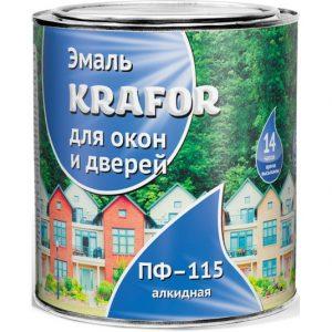 """Фото 10 - Эмаль Крафор """"для Окон и Дверей"""" белая глянцевая алкидная  уп - 14 шт, по [0.9кг] Krafor."""